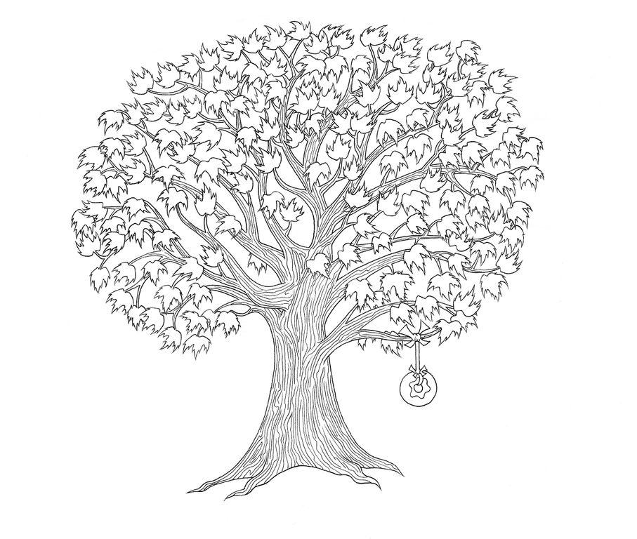 распечатать дерево фото отдельно стоящий